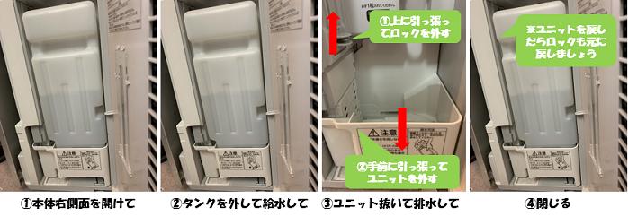 水交換/排水は簡単4ステップ!!