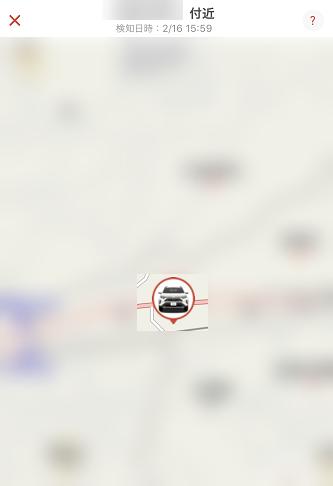 自車位置を地図上に表示できます