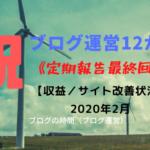 ブログ運営12か月 収益/サイト改善状況